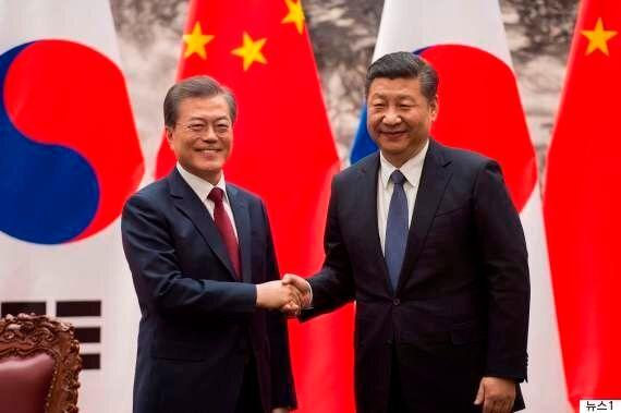 문재인 대통령과 시진핑 주석이 한반도 4대원칙에