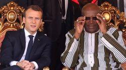 마크롱이 아프리카 정상에 인종주의적 농담