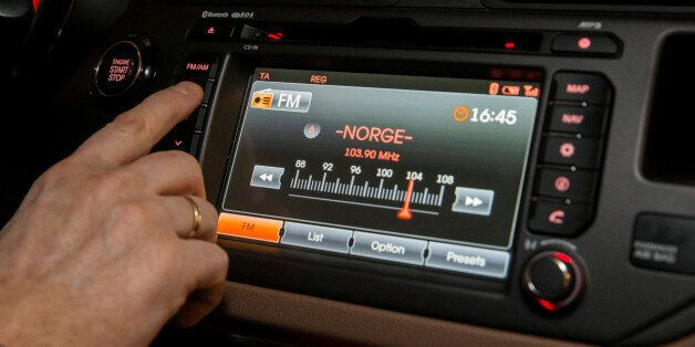 FM radio is seen inside a car in Oslo, Norway January 10, 2017. By the end of this year the FM network...