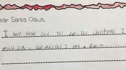 한 소녀가 산타에게 쓴 편지가 미국인들을