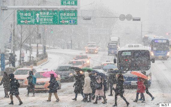 12월 18일, 서울 경기지역에 대설주의보가