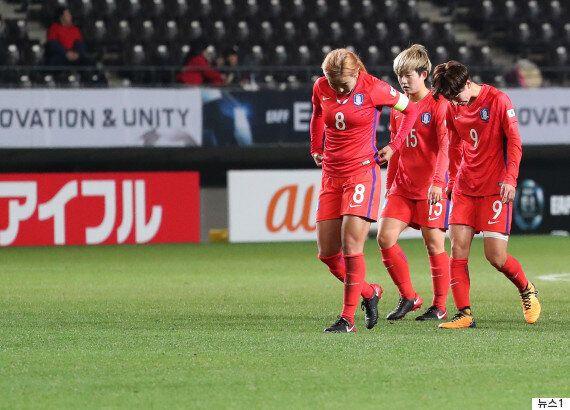 여자축구대표팀이 1- 3으로 중국에