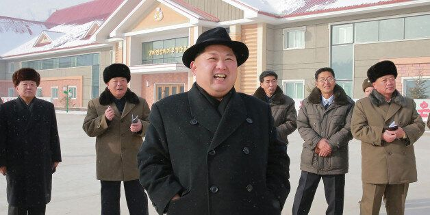 This undated picture released from North Korea's official Korean Central News Agency (KCNA) on December...