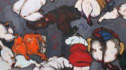 나이지리아 화가가 생동감으로 넘치는 풍만한 누드를