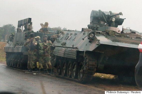 짐바브웨에서 독재자 무가베에 대항하는 쿠데타가 일어난 것으로