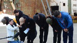 세월호 미수습자 가족들이 목포를