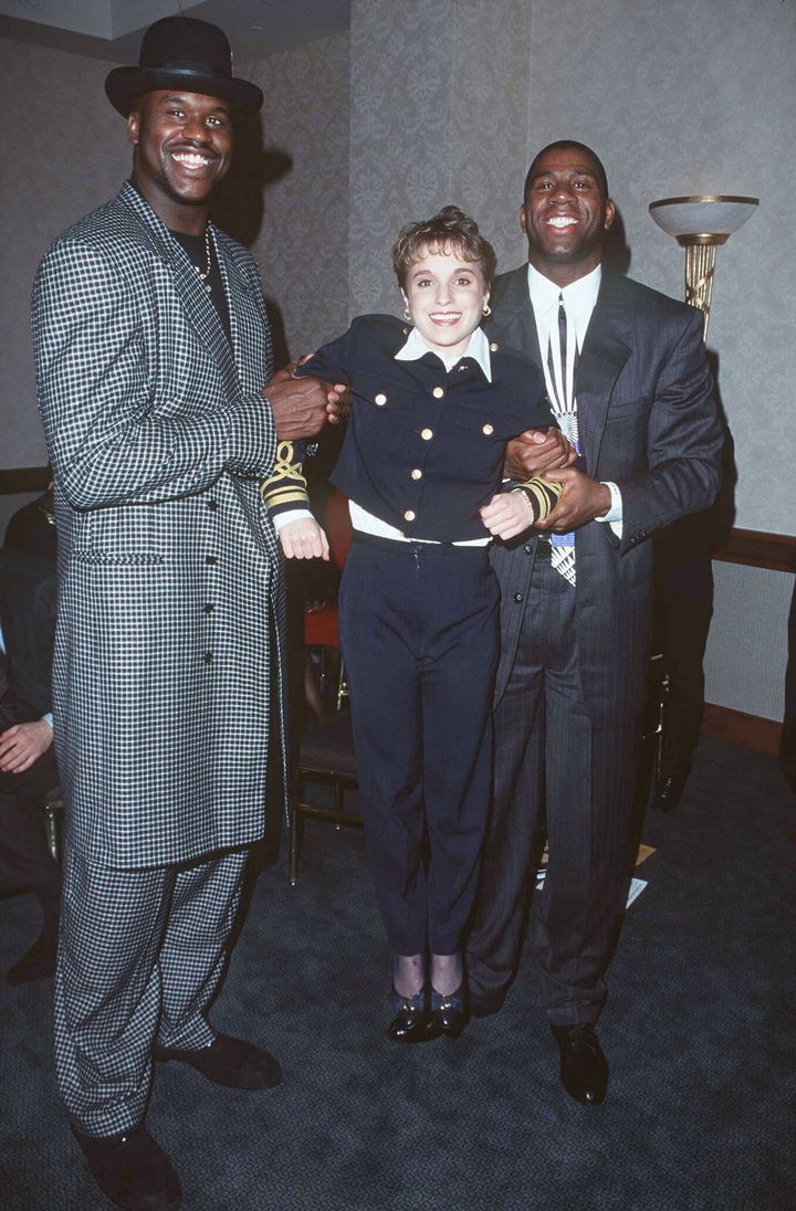 O'Neal, Kerri Strugg and Magic Johnson during the Magic Johnson Awards in Universal City, California.