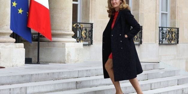 French Justice Minister Nicole Belloubet arrives to attend French President's speech on security to representatives...