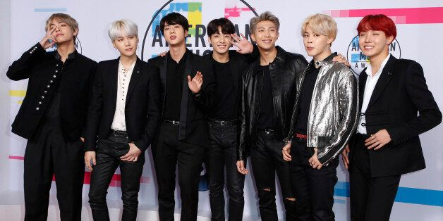 2017 American Music Awards – Arrivals – Los Angeles, California, U.S., 19/11/2017 – BTS. REUTERS/Danny