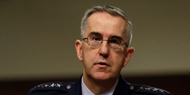 U.S. Air Force General John Hyten, Commander of U.S. Strategic Command, testifies in a Senate Armed Services...