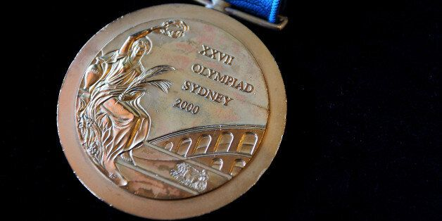 SYDNEY, AUSTRALIA - NOVEMBER 09: The 2000 Olympic Gold Medal won by Michael Diamond as seen at Lawsons...