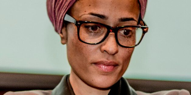 Zadie Smith, British novelist, at a reading and discussion at Barnard College in New York. Photograph:...
