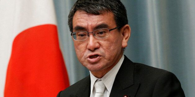 Japan's Foreign Minister Taro Kono speaks at a news conference in Tokyo, Japan August 3, 2017. REUTERS/Kim