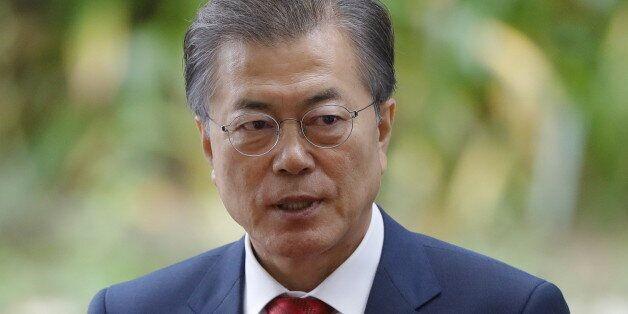 DA NANG, VIETNAM - NOVEMBER 11, 2017: South Korea's president Moon Jae-in before a breakfast event on...