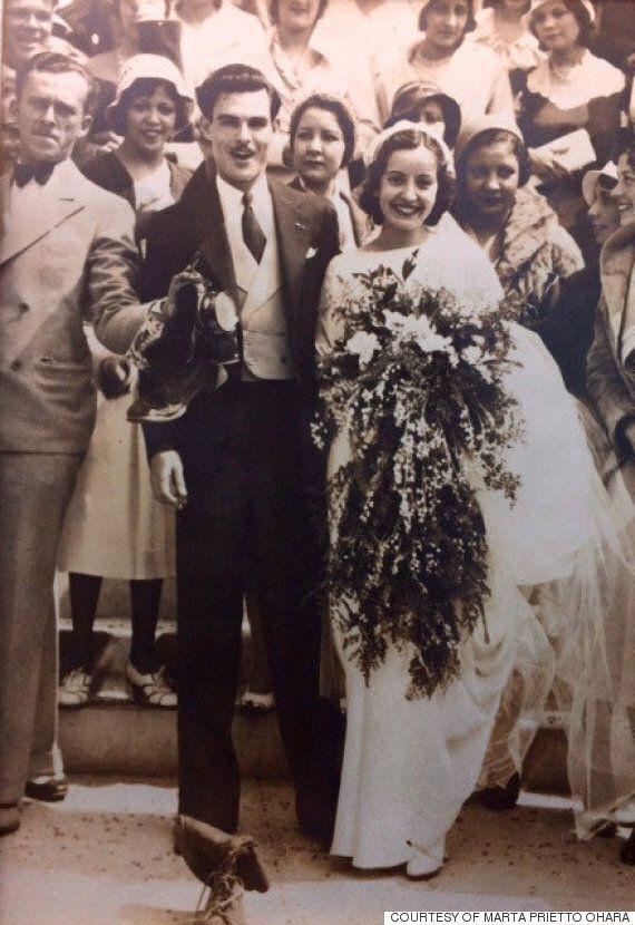 85년 동안 4명의 여성이 물려 입은 웨딩드레스가
