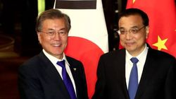 문대통령이 리커창 총리에게 '사드 보복' 철회를 요청하며 한