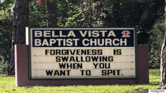 '용서'에 대한 이 교회 간판이 문제가 된