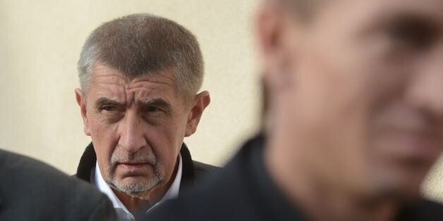 Czech billionaire and leader of the ANO 2011 political movement, Andrej Babis, looks as he arrives for...