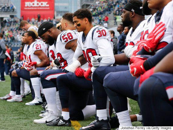 휴스턴 텍슨스가 무릎을 꿇고 저항운동에 동참하게 만든 구단주의