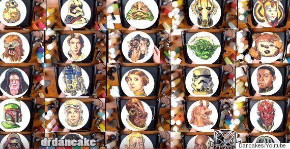 미국 '팬케이크 예술가' 댄케이크스의 작품을