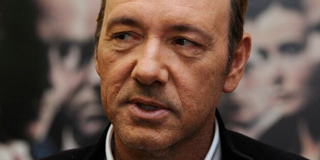 U.S. actor Kevin Spacey poses during a media event to promote his latest