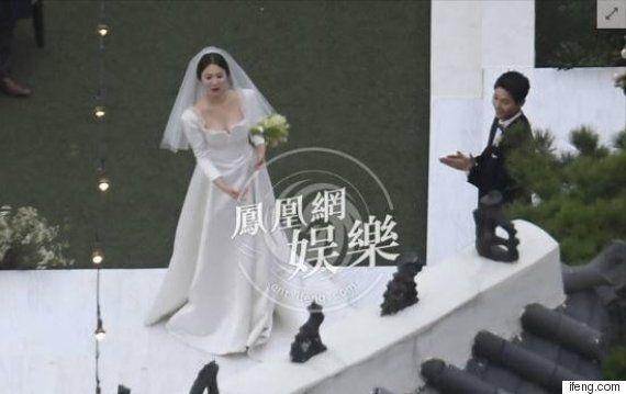 송송커플 결혼식장에 드론 띄운 중국 매체가 형사