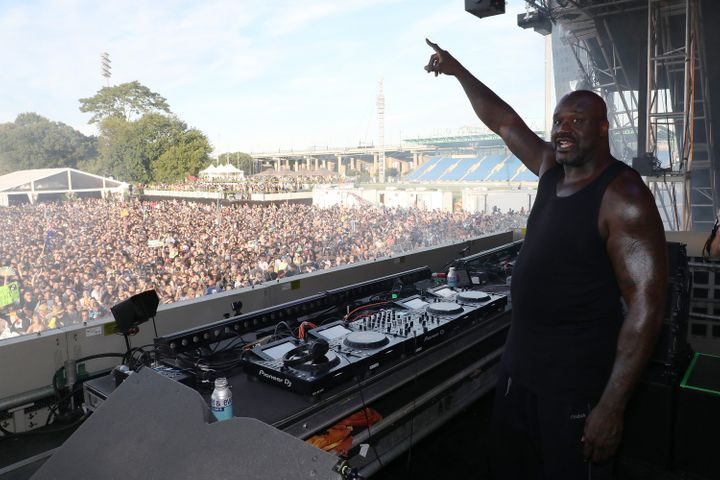 DJ Diesel (Shaq) performs during the 2019 Electric Zoo Festival at Randall's Island on Aug. 31 in New York City.