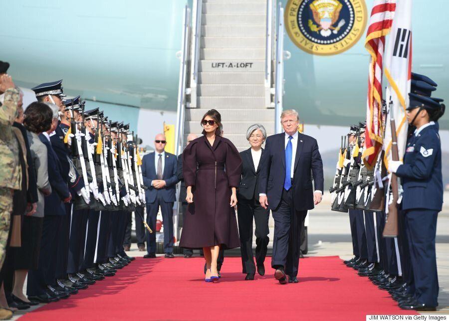 [화보] 도널드 트럼프 미국 대통령이 한국에 도착하던
