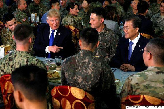 트럼프와 문재인 사이에서 밥을 먹은 김상병에 대한 걱정이 쏟아지고
