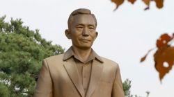 박정희 전 대통령의 동상이 서울 상암동에