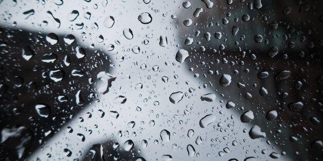 Raining in the City through a