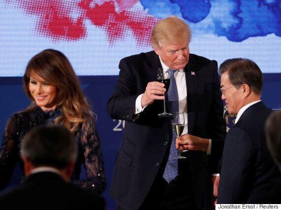 트럼프가 청와대 국빈 만찬에서 '술' 대신 마신 것