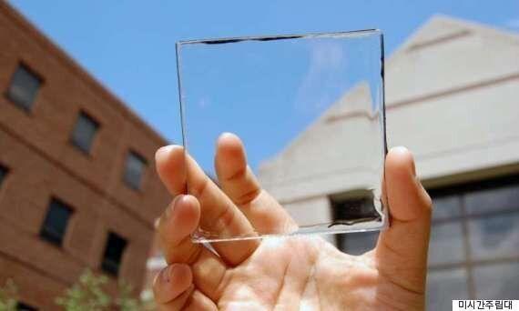 유리처럼 투명한 태양광 전지판이