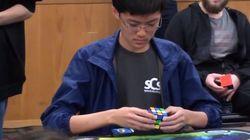 한국인 학생이 루빅스 큐브 세계 신기록을