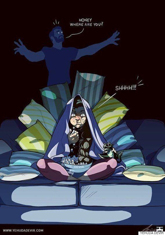 남편이 그린 만화 시리즈는 현실적인 결혼 생활을