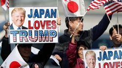 일본 방문 중에 트럼프가 아베와 함께 한 식사는 좀