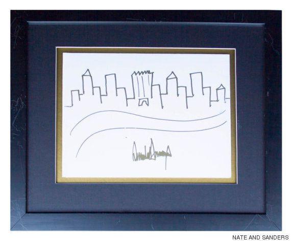 트럼프가 그린 엠파이어 스테이트 빌딩 그림이 놀라운 가격에