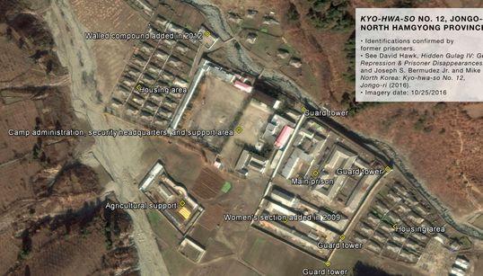북한의 비밀 수용소 위성 사진이 최초로
