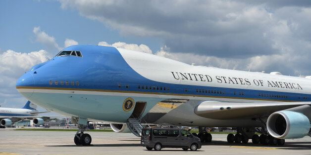 WARSAW, POLAND JULY 06: (SOUTH AFRICA AND POLAND OUT): Air Force One during the Departure of the President...