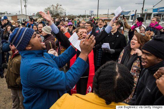 미국 테네시주에서 '백인 목숨도 중요하다' 집회가