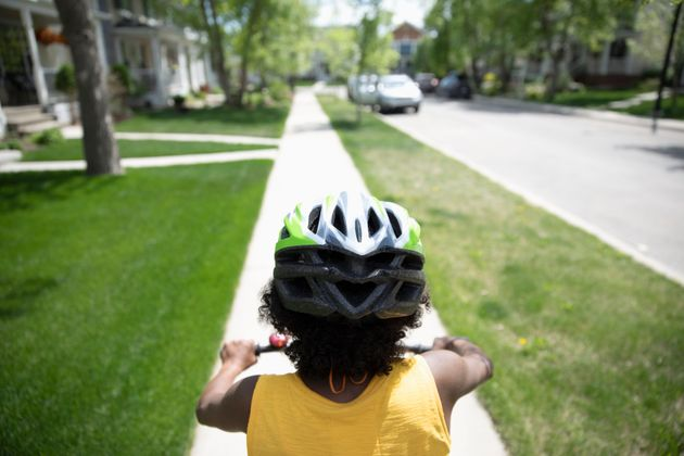 Making sure that children always wear a helmet while biking can make a big difference in ensuring their