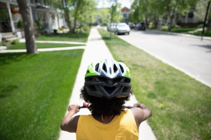 Making sure that children always wear a helmet while biking can make a big difference in ensuring their safety.
