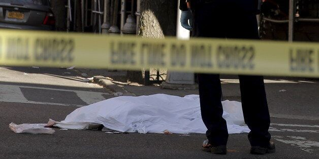 ATTENTION EDITORS - VISUAL COVERAGE OF SCENES OF DEATH AND INJURYA New York City Police (NYPD) officer...