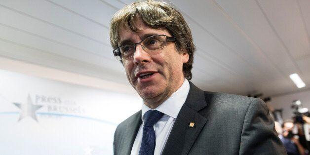 BRUSSELS, BELGIUM - OCTOBER 31: Dismissed Catalan regional President Carles Puigdemont i Casamajó attends...
