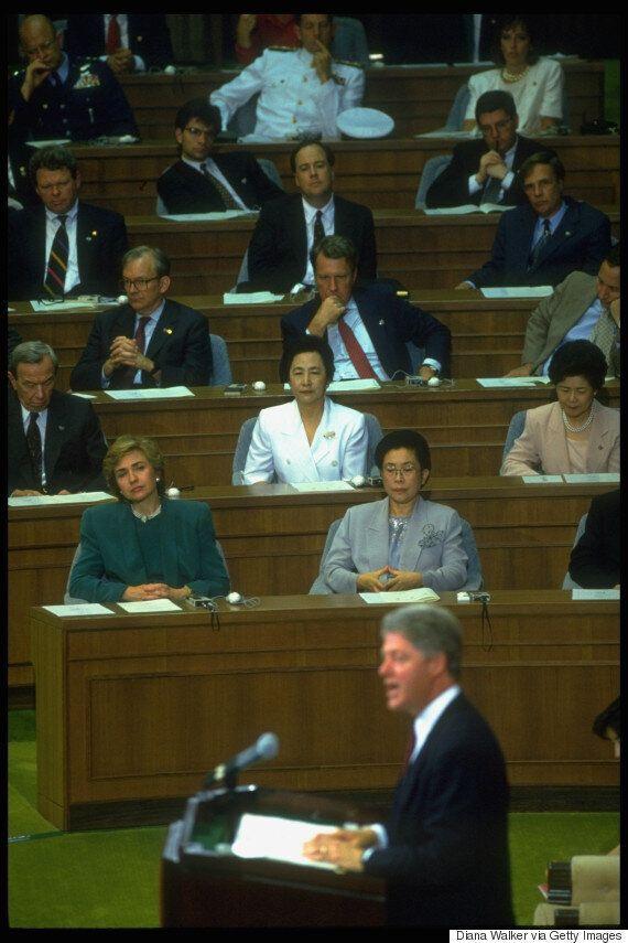트럼프도, 24년 전 클린턴도...국회 연설 주제는