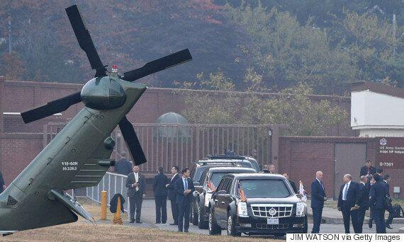 트럼프의 DMZ '극비 방문'이 날씨 때문에