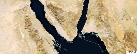 사우디 왕세자가 공개한 초대형 신도시 건설 계획인 '네옴 프로젝트'를