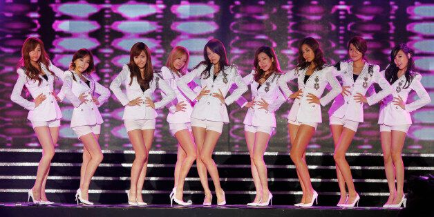 K-pop idol group Girls' Generation performs at the Hallyu (Korean Wave) Dream Festival in Gyeongju, southeast...