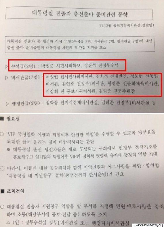 MB의 '총선 지원 리스트'에 대해 '썰전'의 박형준이 제기한 의문
