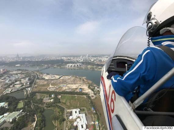 이것은 아마도 '세계 최초'로 평양 상공에서 찍은 360도 영상일 것이다